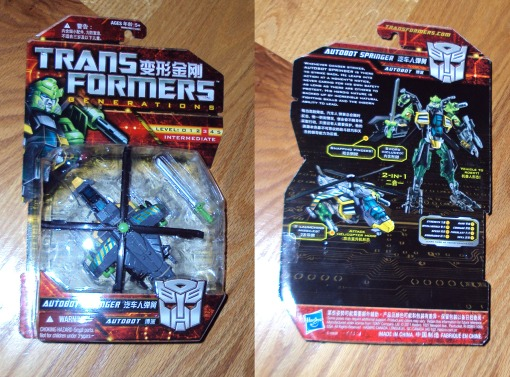 Transformers Generations Deluxe Class Springer 01
