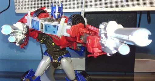 Transformers Prime Dr. Wu Cannon Guns Optimus Prime 5