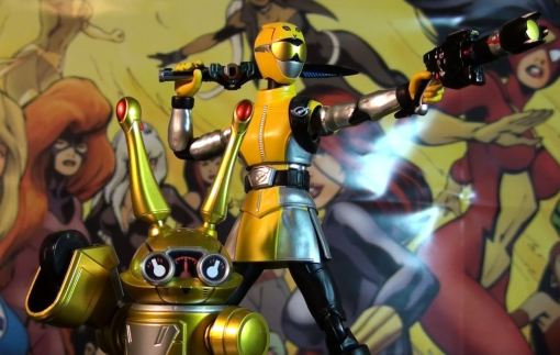 Bandai S.H. Figuarts Go-Busters Yellow Buster 07