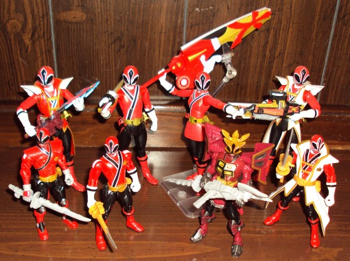 Power Ranger Shinkenger Red Ranger Shinken Red collection Bandai 1