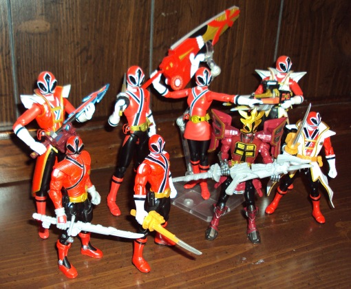 Power Ranger Shinkenger Red Ranger Shinken Red collection Bandai 3