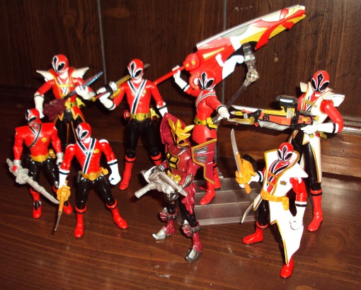Power Ranger Shinkenger Red Ranger Shinken Red collection Bandai 2