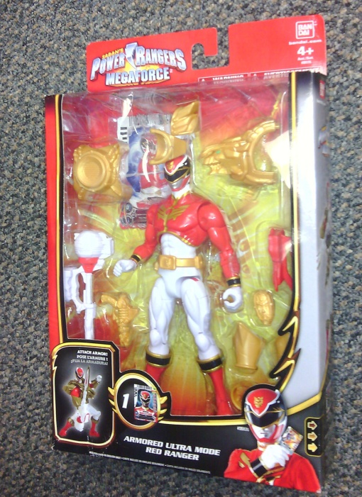 Bandai Power Rangers Megaforce Ultra Mode Armored Red Ranger