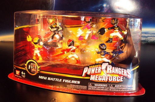 Power Ranger Mega Force Battle Ready Mini Figures Box Set