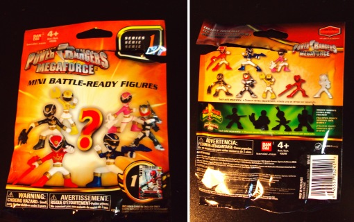 Power Ranger Mega Force Battle Ready Mini Figures Packaging