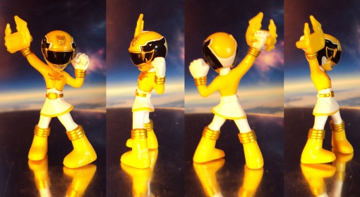 Power Rangers Megaforce Yellow Ranger Battle Ready Mini Figure 02