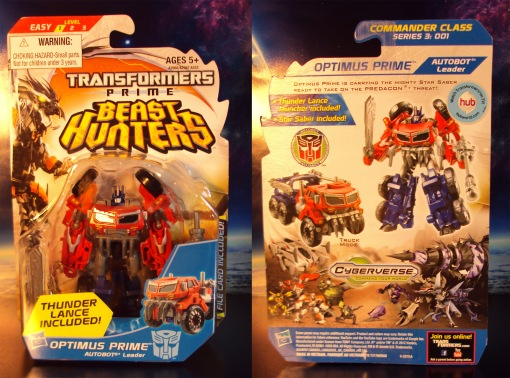 Transformers Prime Beast Hunters Cyberverse Commander Optimus Prime