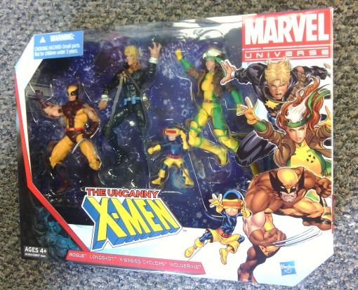 Hasbro Marvel Univers Longshot Wolverine Rogue Baby Cyclops Uncanny XMen 01
