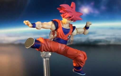 Bandai Shodo Series Dragon Ball Z Super Saiyan God Son Gokou 04