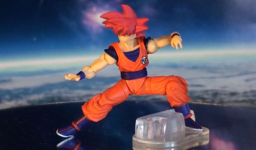 Bandai Shodo Series Dragon Ball Z Super Saiyan God Son Gokou 05