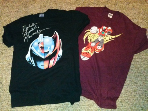 Mega Man X T-Shirts (Daft Punk Tribute & Zero Word Silhouette)