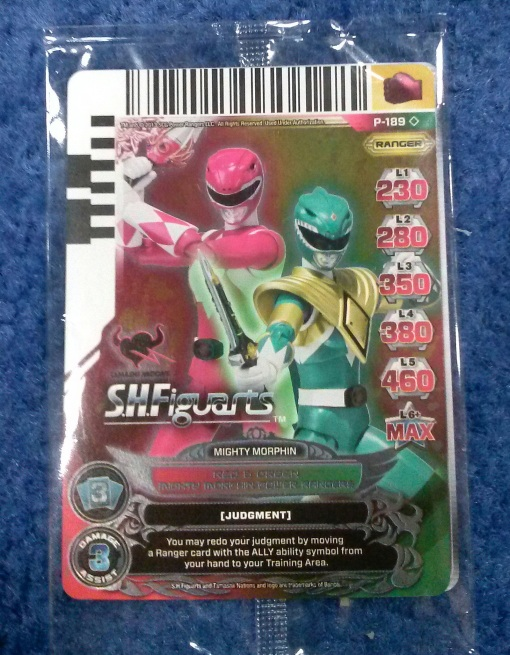 SDCC Bluefin Exclusive Power Ranger cards