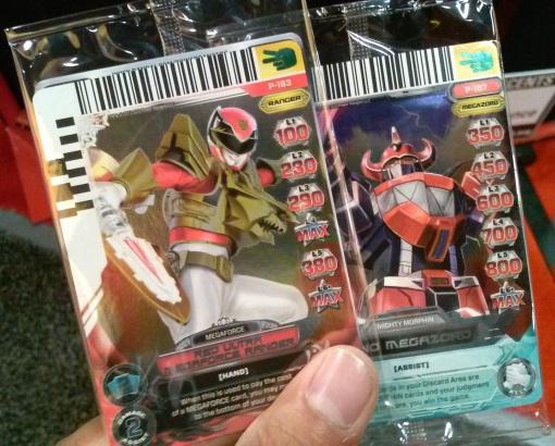 SDCC Bandai Exclusive Power Ranger cards