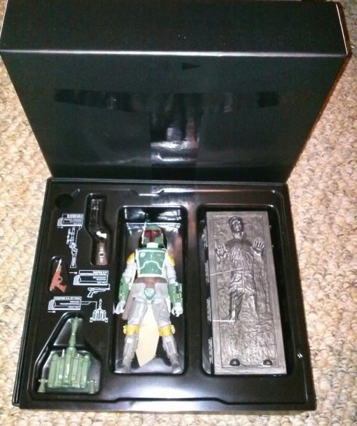 SDCC Hasbro Boba Fett Black Series with Han Solo in Carbonite