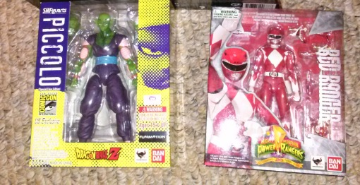 Bandai S.H. Figuarts Piccolo Special Color Edition and MMPR Red Ranger