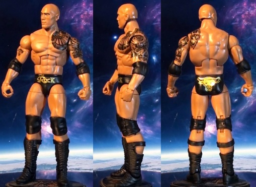 Mattel WWE Elite Series 22 The Rock Action 01
