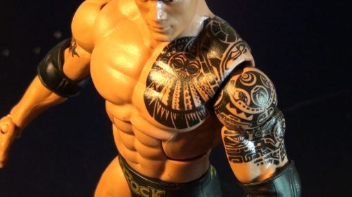 Mattel WWE Elite Series 22 The Rock Action 02