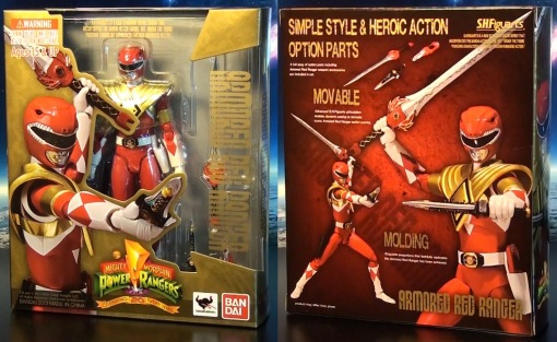 Bandai S.H. Figuarts Mighty Morphin Power Rangers Amored Red Ranger 01