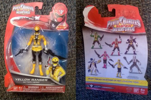 Bandai Super power Rangers Megaforce yellow ranger 01
