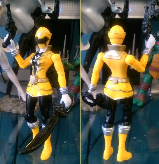 Bandai Super power Rangers Megaforce yellow ranger 02