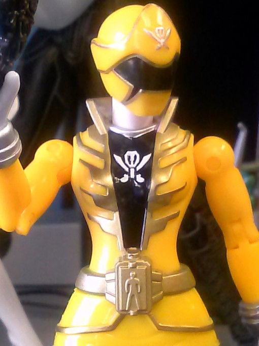 Bandai Super power Rangers Megaforce yellow ranger 04