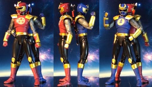 Bandai S.H. Figuarts Gouraiger Power Rangers Ninjastorm Thunder Rangers 02