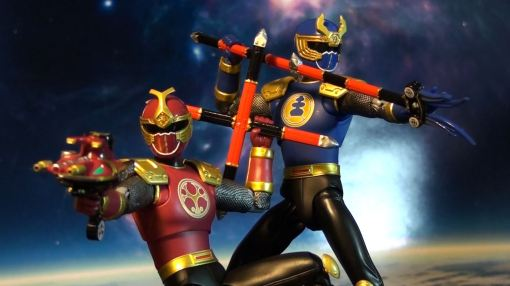 Bandai S.H. Figuarts Gouraiger Power Rangers Ninjastorm Thunder Rangers 04