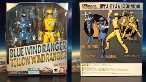 Bandai S.H. Figuarts Hurricanger Hurricane Yellow & Blue 01