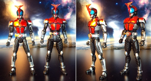 Masked Rider Kabuto Version 1 vs. Renewal 04