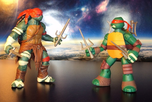 Teenage Mutant Ninja Turtles Raphael Movie 2014 vs Animated Nick