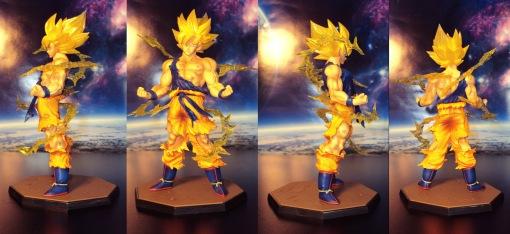 Bandai Figuarts Zero Dragon Ball Z Super Saiyan Son Gokou Statue 01
