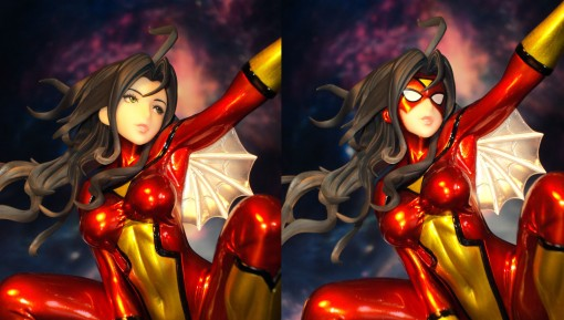 Kotobukiya SDCC Metallic Marvel Bishoujo Spider-Woman 03