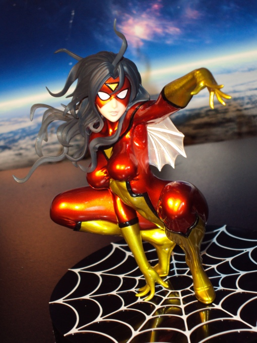 Kotobukiya SDCC Metallic Marvel Bishoujo Spider-Woman 05