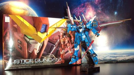 Real Grade 1/144 Justice Gundam Blue repaint