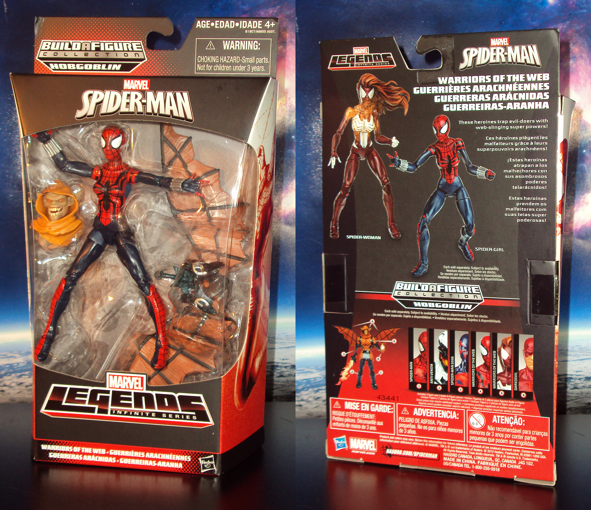 R368 hasbro marvel legends infinite spider girl may parker action