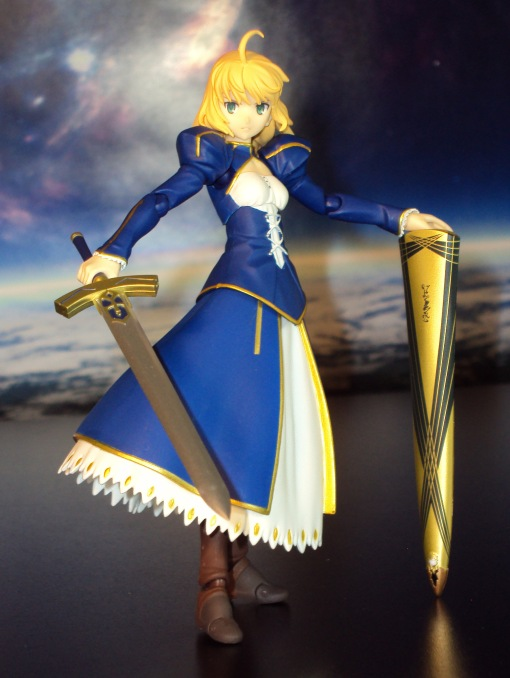 Figma EX-025 Fate Stay Night Unlimited Blade Works Saber Dress Version 08