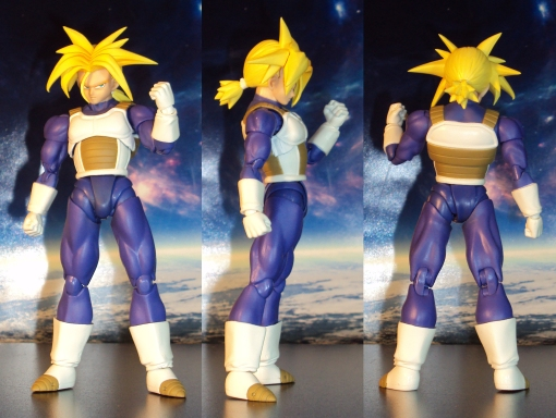 Bandai S.H. Figuarts Dragon Ball Z Super Saiyan Trunks Saiyan Armor 02