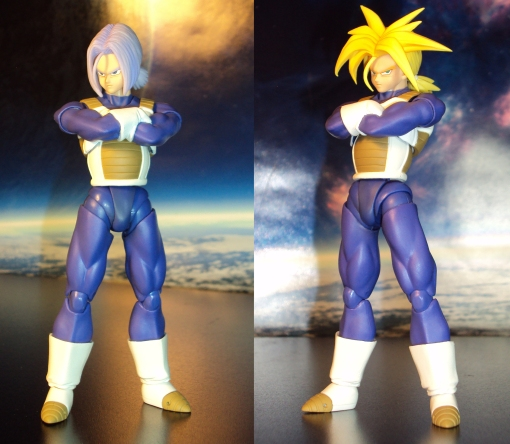 Bandai S.H. Figuarts Dragon Ball Z Super Saiyan Trunks Saiyan Armor 03